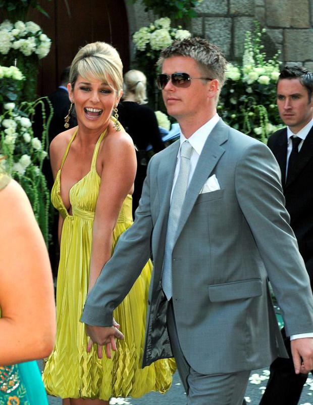Pippa O'Connor, Brian Ormond at Robbie and Claudine Keane's wedding in 2008