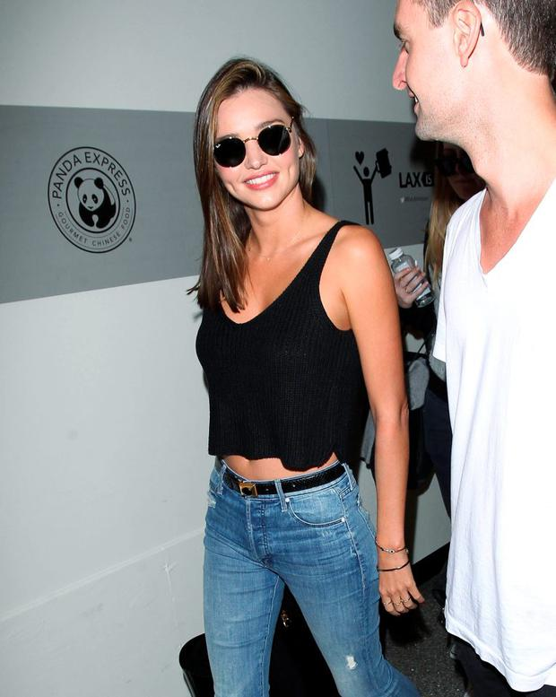Miranda Kerr and Evan Spiegel are seen on August 12, 2015 in Los Angeles, California. (Photo by SMXRF/Star Max/GC Images)