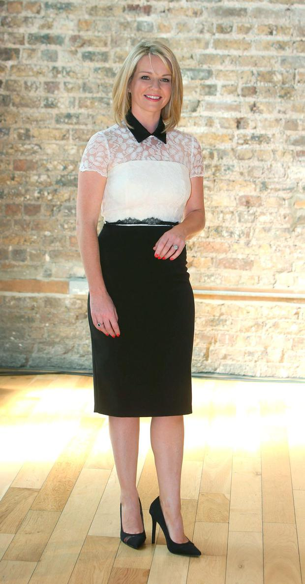 Claire Byrne at the RTE new season launch at the Smock Alley Theatre. Picture credit; Damien Eagers