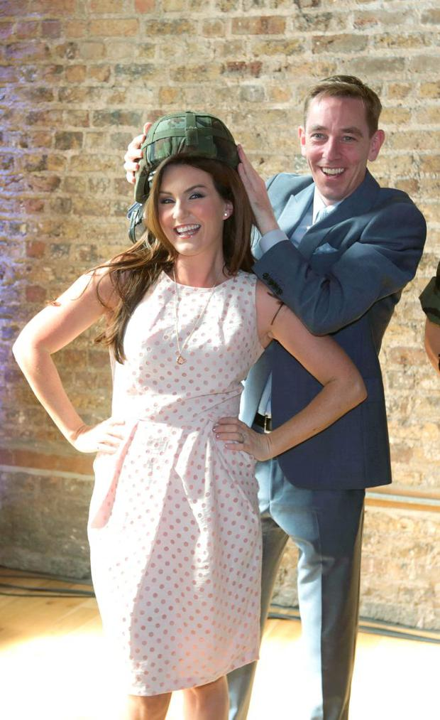 Mairead Farrell and Ryan Tubridy at the RTE new season launch at the Smock Alley Theatre. Picture credit; Damien Eagers