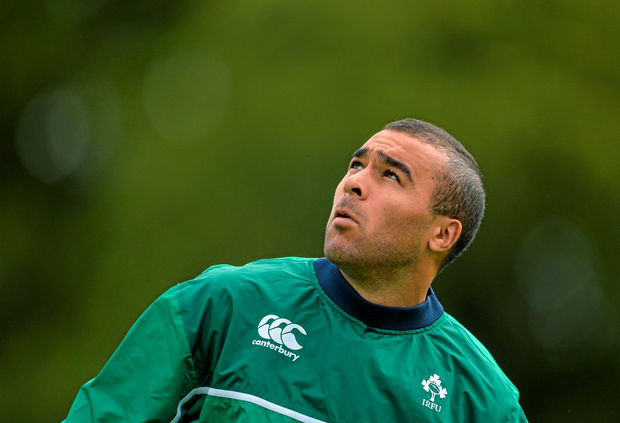 Simon Zebo pictured during squad training