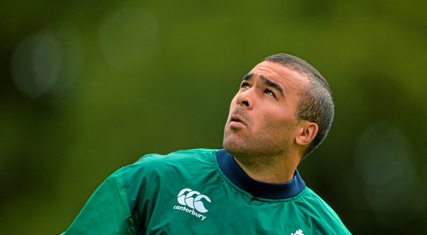 Simon Zebo pictured during squad training earlier this week