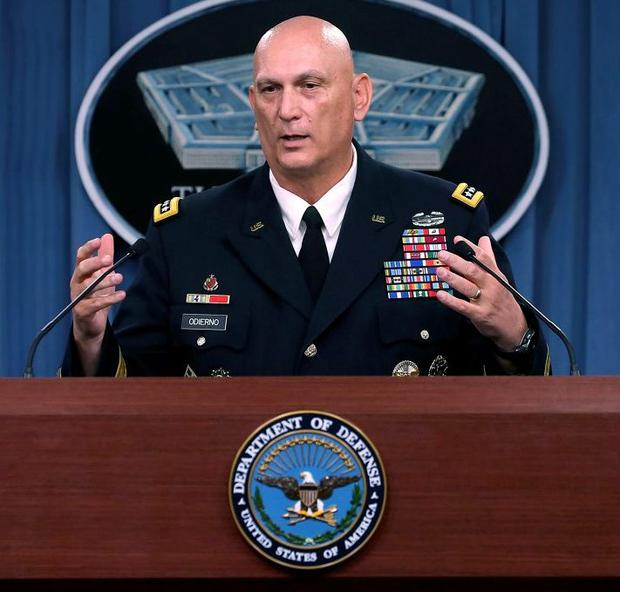 Raymond Odierno has suggested that the US may have to put troops on the ground in Iraq
