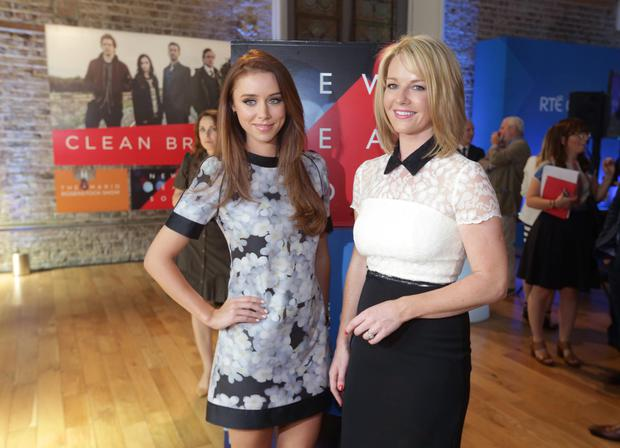 Una Foden and Claire Byrne. Photo: Damien Eagers