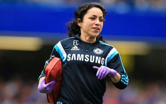 Demoted doctor: Eva Carneiro was criticised by Jose Mourinho for entering the field at Stamford Bridge to treat Eden Hazard