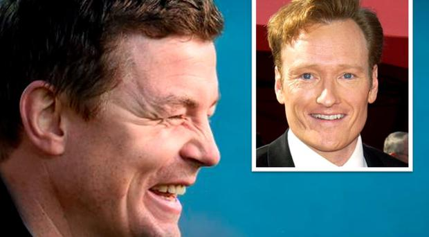 Brian O'Driscoll tweeted Conan O'Brien following the Ireland team announcement for the World Cup warm-up game against Scotland
