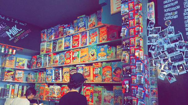 The Cereal Killer Cafe in Camden, London Pic : Twitter
