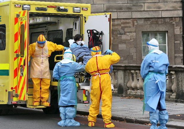 The major Ebola alert exercise at the Mater in Dublin.