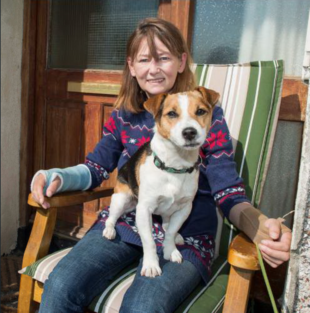 Doreen O'Shea with her dog Charlie