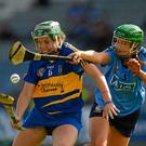 Cáit Devane, Tipperary, in action against Rose Collins, Dublin. Picture credit: Dáire Brennan / SPORTSFILE
