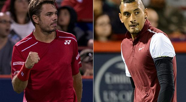 Stan Wawrinka (left) and Nick Kyrgios were allegedly 'involved in a locker room bust-up