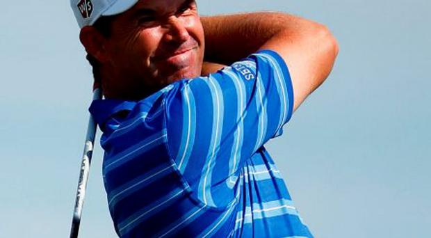 Padraig Harrington ran the risk of missing the PGA championship after injuring his knee playing tennis with his kids