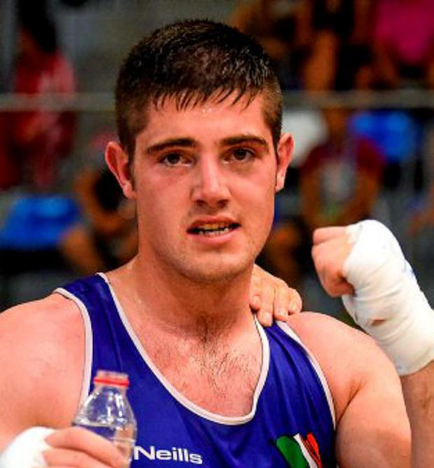 Joe Ward celebrates after booking his place in the final
