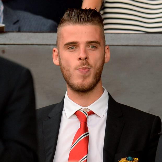 Manchester United's Spanish goalkeeper David de Gea is furious after being relegated to training with the reserves