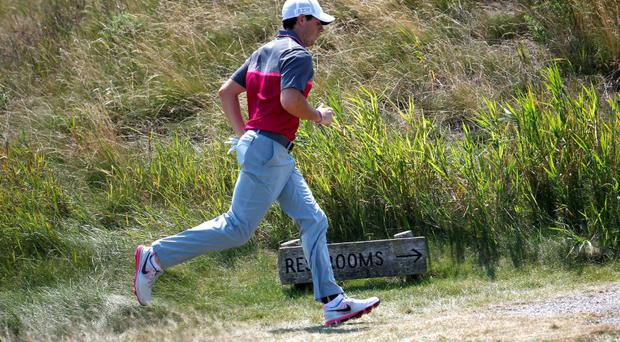 Rory McIlroy begins the third round six shots off the lead at the US PGA Championship
