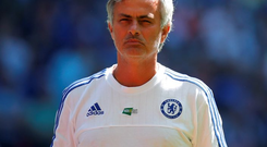 Chelsea manager Jose Mourinho in pensive mood