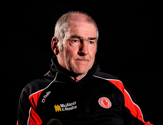 Tyrone manager Mickey Harte during a press conference
