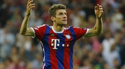 Bayern Munich's Thomas Muller was linked with a move to Manchester United