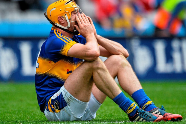 A dejected Seamus Callanan at the end of the game