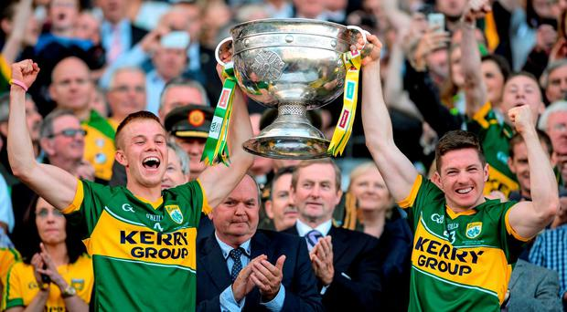 The sight of Kerry lifting the Sam Maguire – as joint captains Fionn Fitzgerald and Kieran O'Leary did last year – is all too familiar in Croke Park and underlines the county's strong tradition