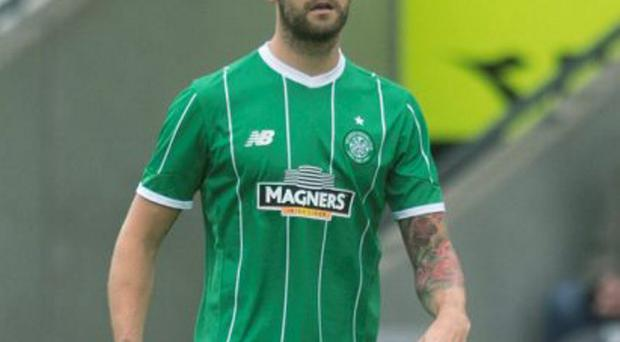 Celtic's Charlie Mulgrew gave a warm welcome to new signing Scott Allan