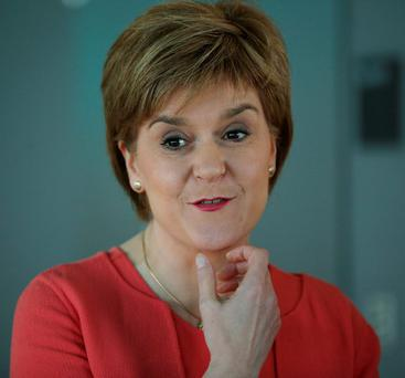 Scotland's First Minister Nicola Sturgeon of the SNP
