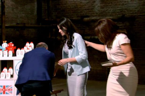 Amy Worsworth is aided by the dragons on Dragon's Den
