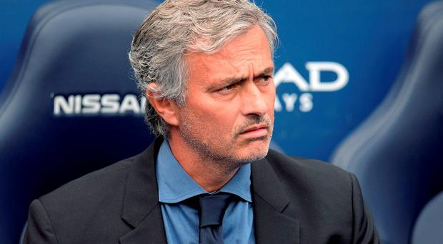 Chelsea's Portuguese manager Jose Mourinho at the Etihad yesterday