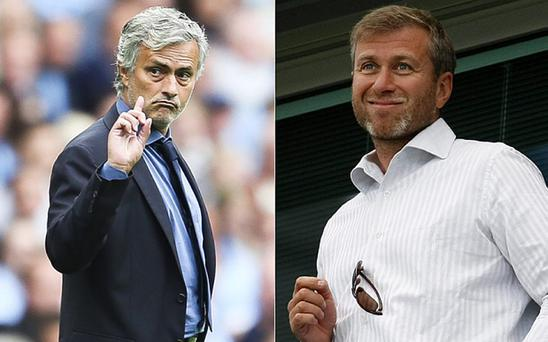 Jose Mourinho and Chelsea owner Roman Abramovich