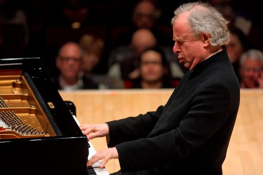 Andras Schiff performing the music of Haydn, Beethoven, Mozart and Schubert at Carnegie Hall