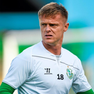 Damien Duff during the warm up before the SSE Airtricity League Premier Division clash at home to Cork City
