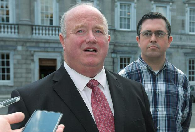 Billy Timmins and Terence Flanagan at the launch of Renua's proposals on Dail reform. Photo: Damien Eagers