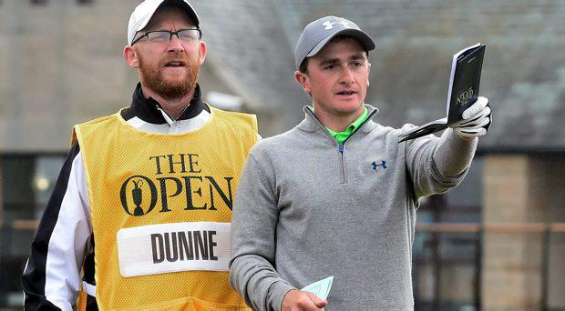 Ireland's Paul Dunne carded a one-over-par in the first round of the US Amateur Championships