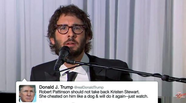 Josh Groban sings Donald Trump's tweets on Jimmy Kimmel Live!