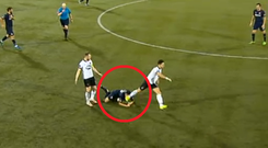 Richie Towell kicked Pats' Jamie McGrath as he lay on the ground