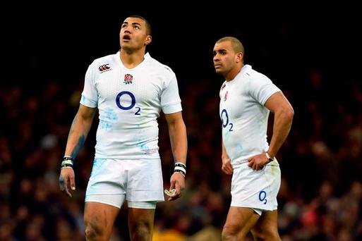 England centre's Luther Burrell (left) and Jonathan Joseph (right).