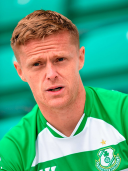 Damien Duff made his debut for Shamrock Rovers on Monday