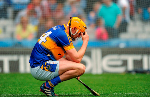 A dejected Séamus Callanan of Tipperary, after his side's defeat to Galway