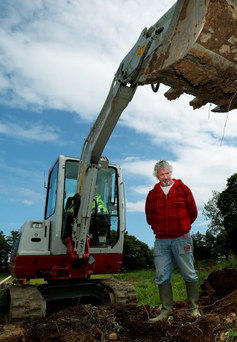 Eugene Sinnott (Fiona's uncle) at the dig site for missing Fiona. Picture: Gerry Mooney