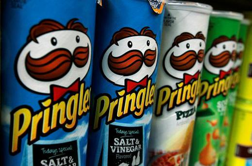 Packages of Pringles potato chips