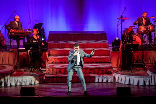 EDINBURGH, UNITED KINGDOM - APRIL 08: Daniel O'Donnell performs on stage at Usher Hall on April 8, 2014 in Edinburgh, United Kingdom. (Photo by Roberto Ricciuti/Redferns via Getty Images)
