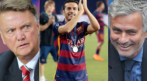Movers and shakers: Mourinho has snapped up Pedro from under Van Gaal's nose Photo: GETTY IMAGES