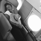 David Beckham catches some shut-eye mid-flight (Photo: Instagram/Victoria Beckham)