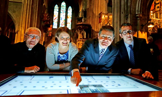 Paschal Donohoe at the launch of Saint Patrick's Cathedral's new interpretive centre