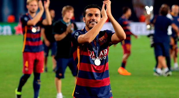 Pedro did not train for Barca today