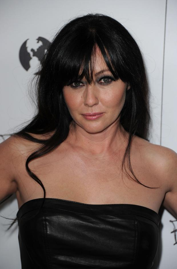 Actress Shannen Doherty arrives at the premiere of New Films Cinemas
