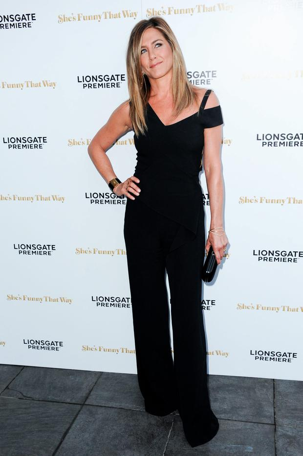 Actress Jennifer Aniston arrives at the Los Angeles premiere of