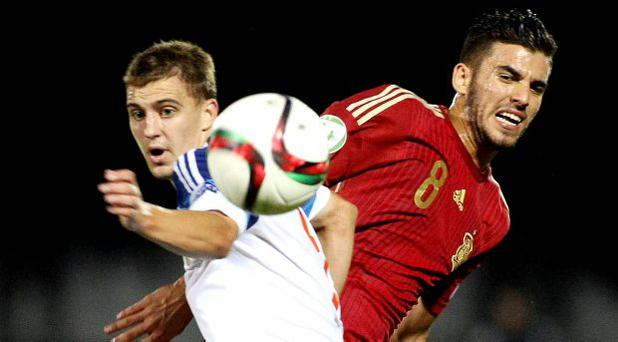 Spain's Dani Ceballos in action for the Under-19s