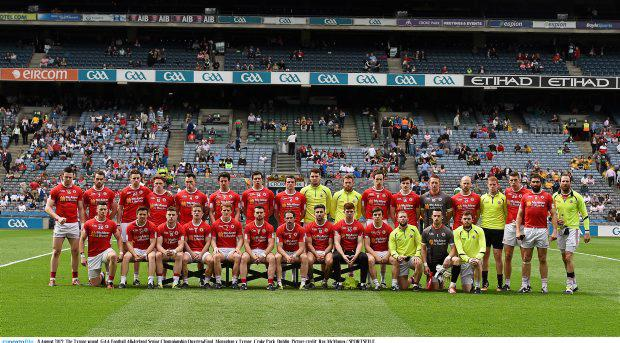 The Tyrone squad ahead of their clash with Monaghan