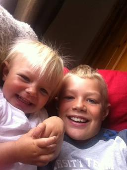 Big brother Liam (8) pictured with his sister Gracie (2) who previously spent time at Temple Street Children's Hospital